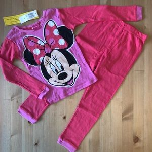 Disney Girls' Minnie Mouse Pajama Set